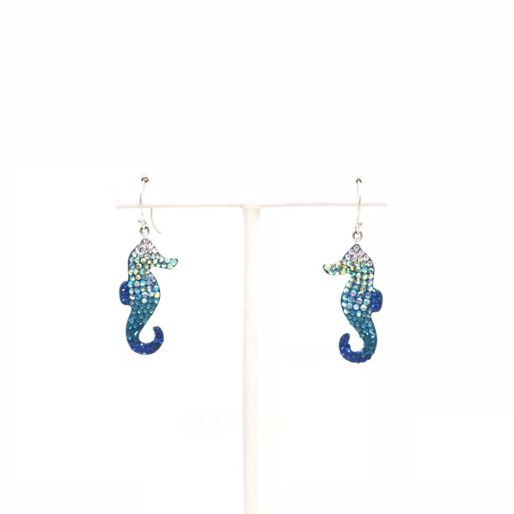 Mosaic Seahorse Earrings