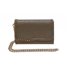 Matte Gold Chain Clutch