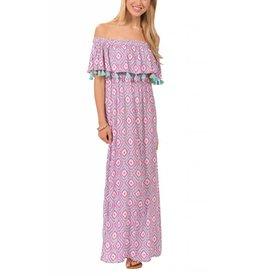 Blush/Aqua Long Monica Dress