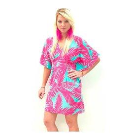 Aqua/Blush Tropics Lucia Dress