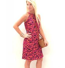 Navy/Pink Riviera Magil Dress