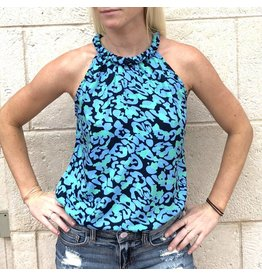 Navy/Ocean Blue Pasha Top