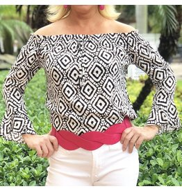 Black/White Vence Top