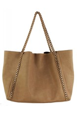 Taupe Chain Tote