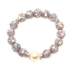FWP & Lilac Mosaic Shell Bracelet