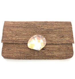 Brown Shell Clutch