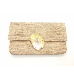 Cream Shell Clutch