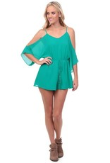 Mermaid Cold Shoulder Romper