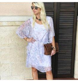 Blush Paisley Silk Dress