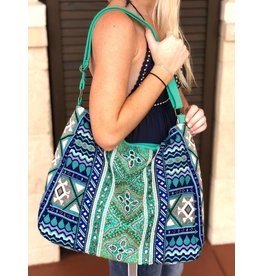 Teal Dreams Boho Bag