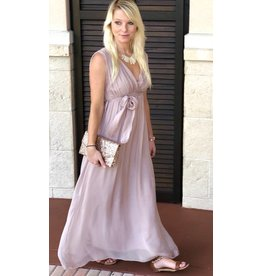 Dusty Rose Tie Maxi