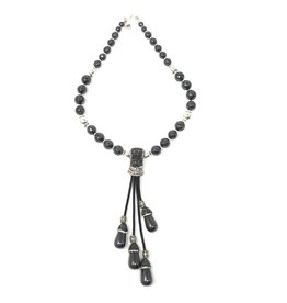Hematite Tassel Necklace