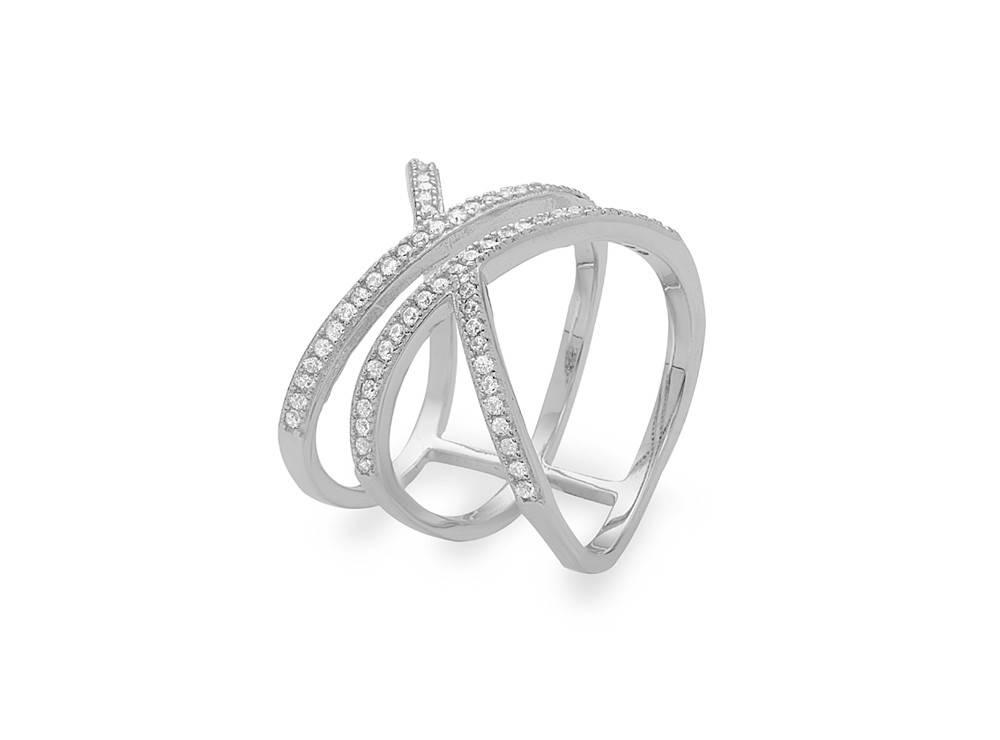 Split Double X CZ Ring