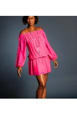 Fuchsia Silk Mini Dress