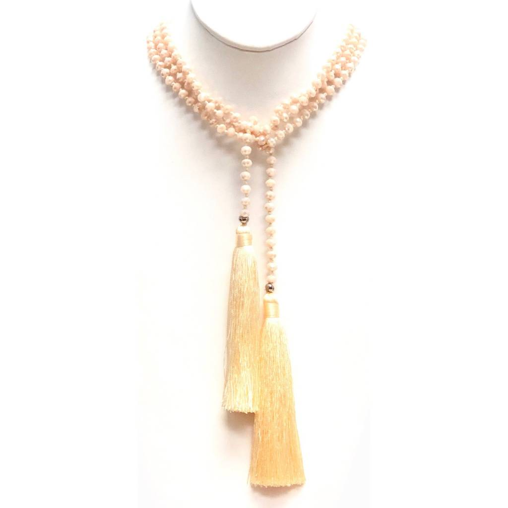 Double Lemon Tassel Lariat