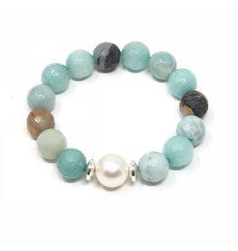 Lg. FCT Amazonite & Pearl Bracelet