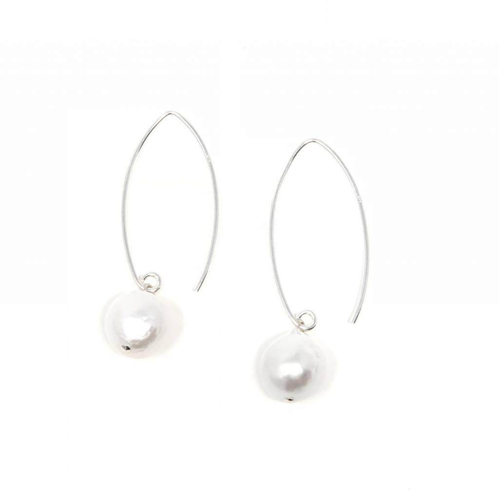 Baroque Pearl Large Hook Earrings