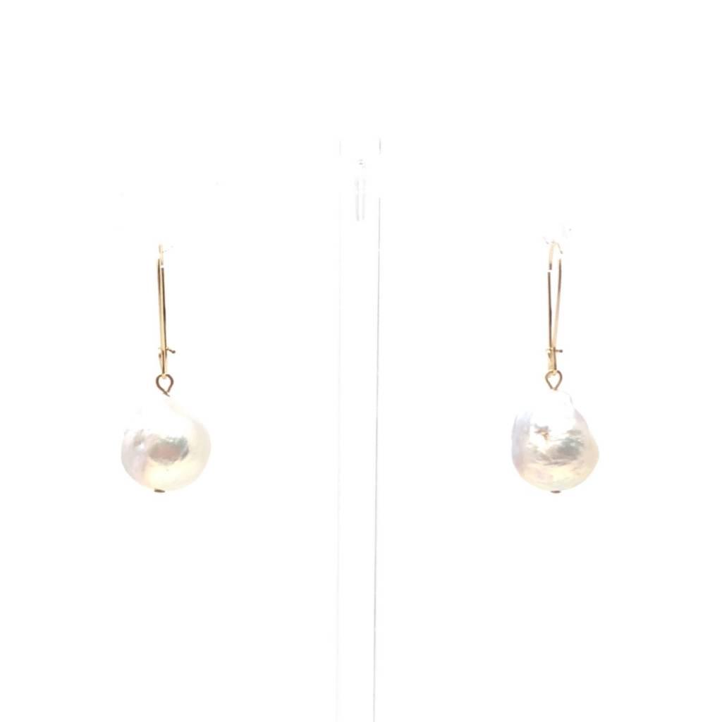 Gold Filled Baroque Drop Earrings
