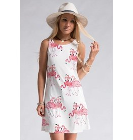 Flamingo Shift Dress