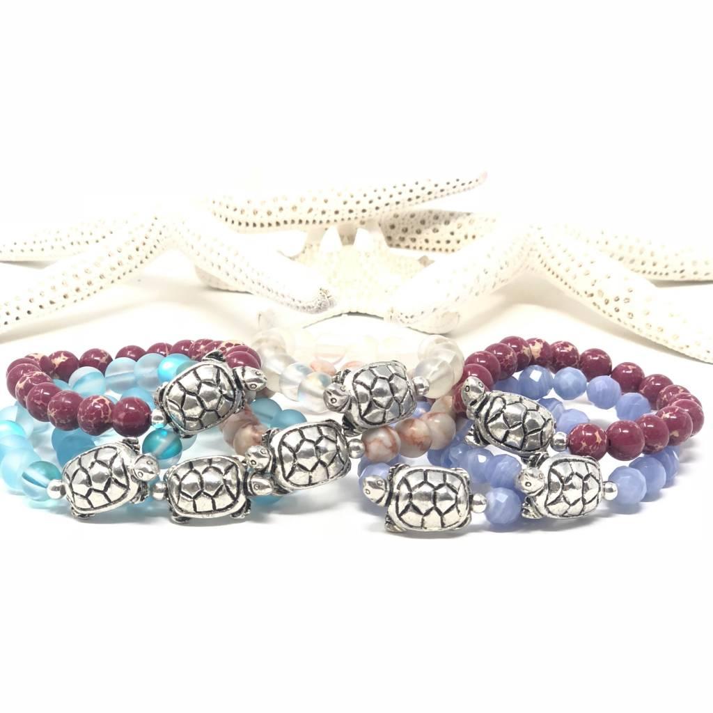 Girlz Pewter Turtle Bracelet