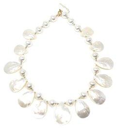 Teardrop MOP & Shell Pearl Necklace