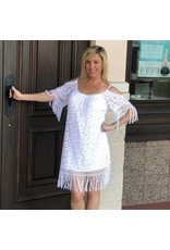 White C/S Lace Fringe Dress