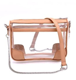 Policy Handbags Nude Clear Drake