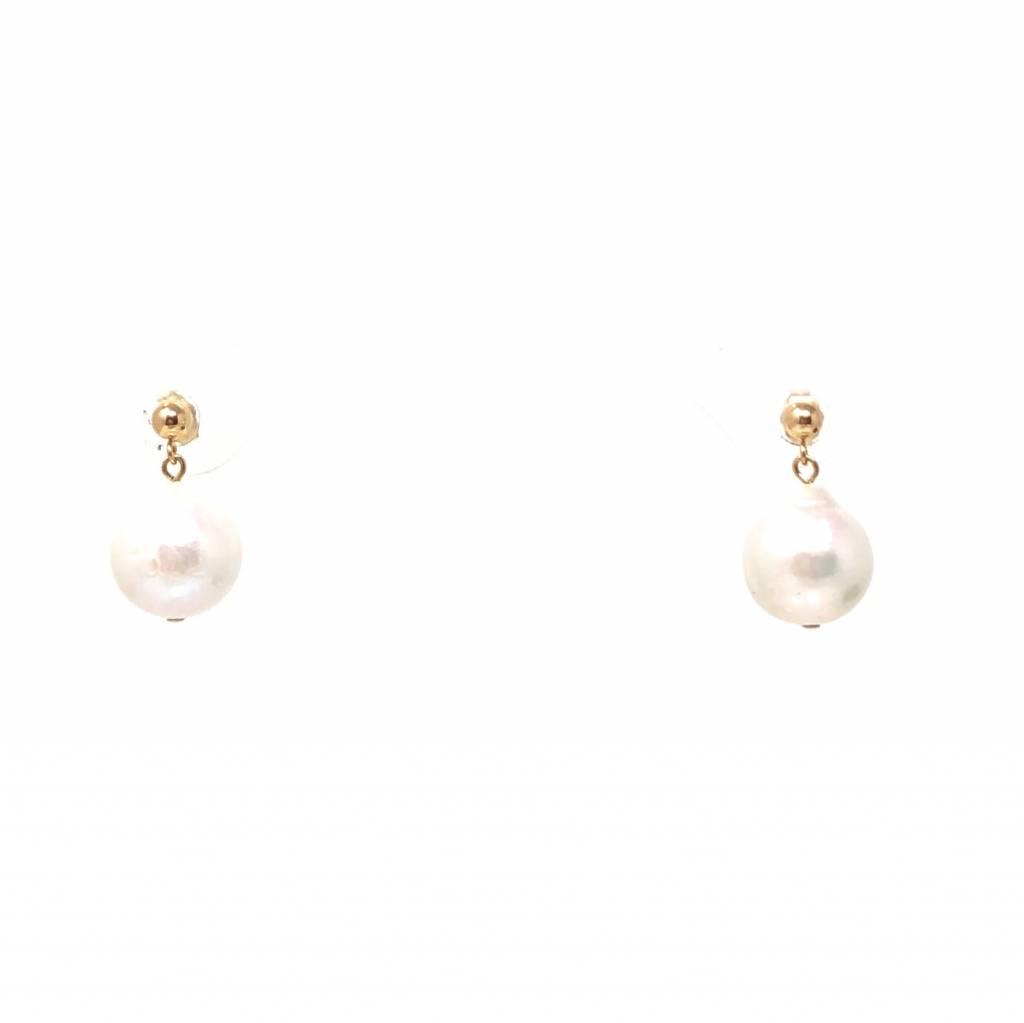 Baroque Pearl GF Stud Earrings