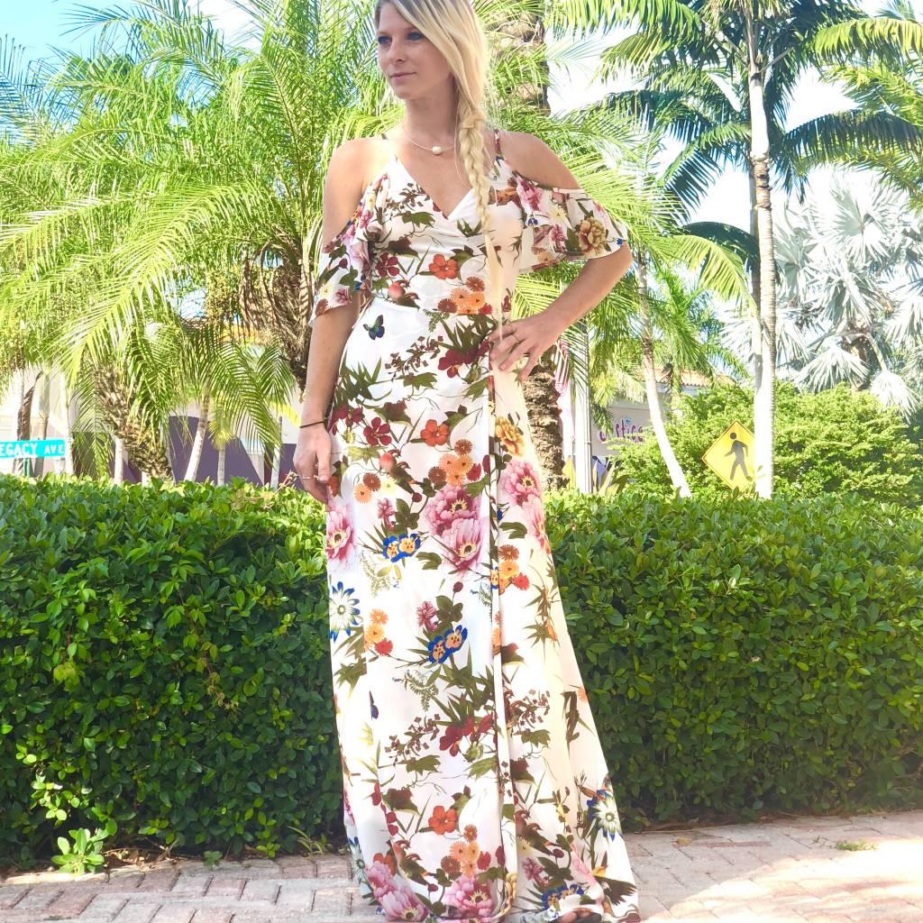 Floral Goddess Wrap Maxi
