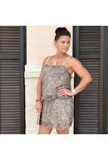 Brown Cheetah Print Dress