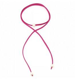 Hot in Pink Pearl Choker