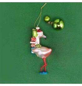 Festive Flamingo Ornament