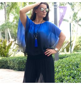 Royal Ombre Silk Top