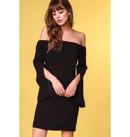 Black Slit Sleeve Dress