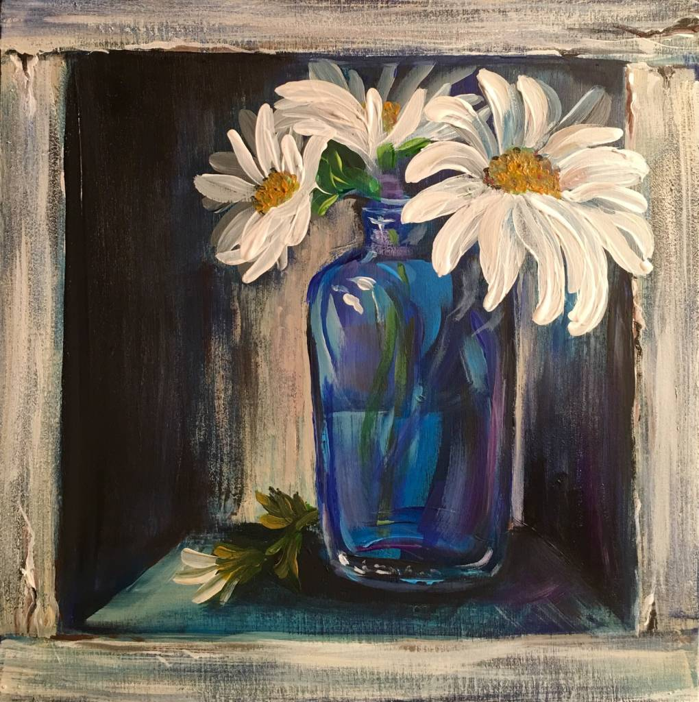 Painting: Fancy Flowers-Saturday, July 29th /10am-12noon