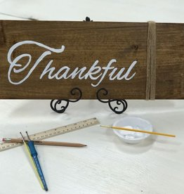 Drop in at your Leisure: Make a wood sign: Tuesday-Friday  11am-2pm and Saturday from 11am-3pm