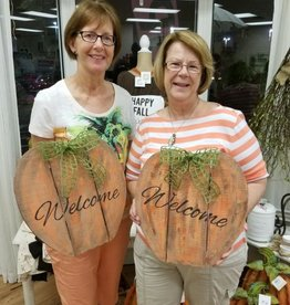 Fall Pumpkin Signs: Tuesday, October 24th: 11am-2:00pm