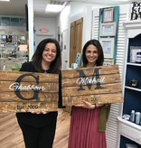 Wood Monogramed Sign Personalized