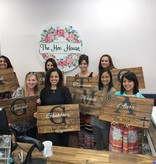 Monogrammed Wood Sign (Group Party)