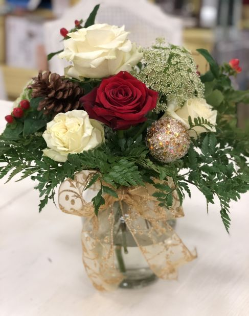Floral: Christmas Happy Arrangement - Vased