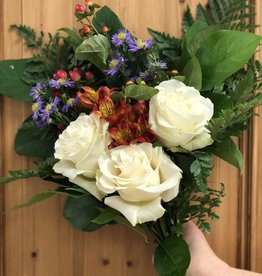 Floral Bouquet: HAPPY (Wrapped) - approx 7 stems