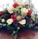 Floral Arrangement: Christmas Centerpiece