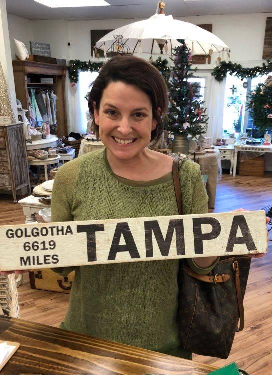 Golgatha Distance Sign