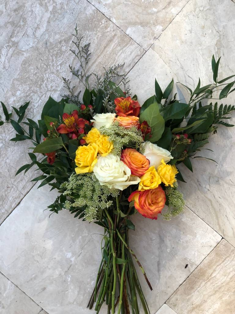 Floral Bouquet Happier Wrapped Approx 14 Stems The Hen House