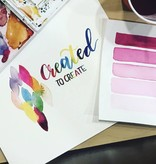 Brush Letter w/Watercolor: Sat., March 24th:11am-1pm