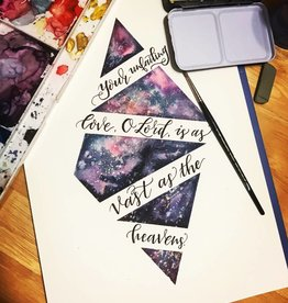 Brush Lettering with Watercolor- Saturday, March 24th: 11am-1pm