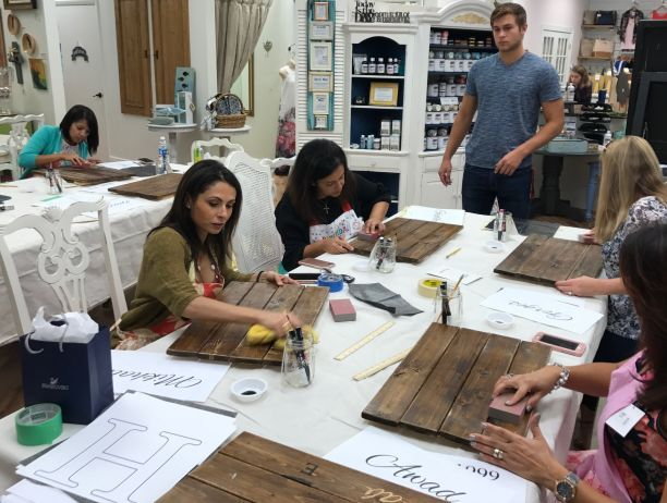 Wood Monogrammed Sign Class: Fri, Feb. 23rd 11am-1:00pm