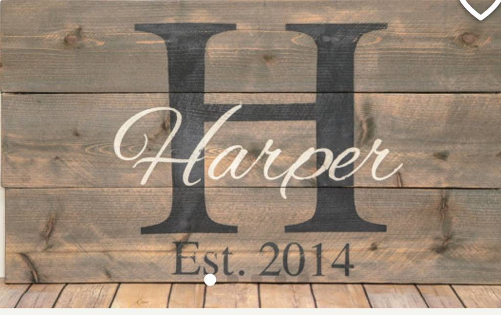 Wood Monogrammed Sign Class: Saturday, April 14th 11:45am-2:30pm