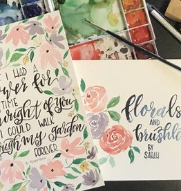 Brush Lettering w/Watercolor- Sat.  July 14th, 11am-1pm