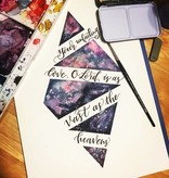 Brush Lettering w/Watercolor-Wednesday, August 1st: 11am-1pm